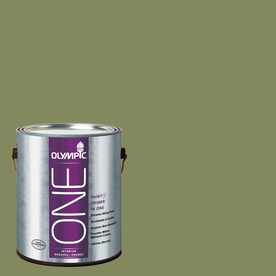 Olympic ONE Moss Point Green Eggshell Latex Interior Paint and Primer In One (Actual Net Contents: 114-fl oz)