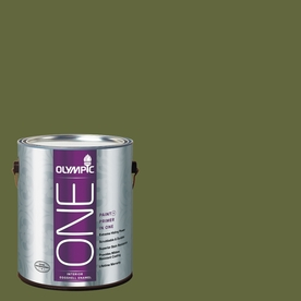 Olympic ONE Globe Artichoke Eggshell Latex Interior Paint and Primer In One (Actual Net Contents: 114-fl oz)