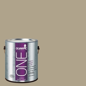 Olympic ONE Olive Gray Eggshell Latex Interior Paint and Primer In One (Actual Net Contents: 116-fl oz)