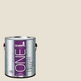 Olympic ONE Off White Eggshell Latex Interior Paint and Primer In One (Actual Net Contents: 124-fl oz)