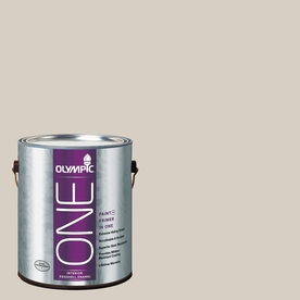 Olympic ONE Gray Beige Eggshell Latex Interior Paint and Primer In One (Actual Net Contents: 124-fl oz)
