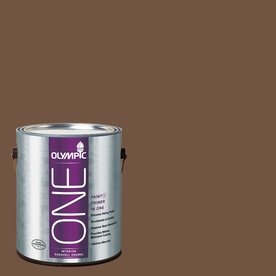 Olympic ONE Chocolate Kiss Eggshell Latex Interior Paint and Primer In One (Actual Net Contents: 114-fl oz)