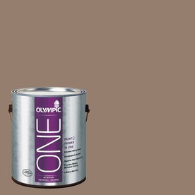 Olympic ONE English Saddle Eggshell Latex Interior Paint and Primer In One (Actual Net Contents: 116-fl oz)