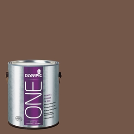 Olympic ONE Chocolate Curl Eggshell Latex Interior Paint and Primer In One (Actual Net Contents: 114-fl oz)