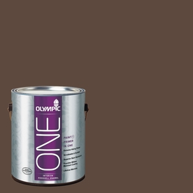 Olympic ONE Fudge Truffle Eggshell Latex Interior Paint and Primer In One (Actual Net Contents: 114-fl oz)