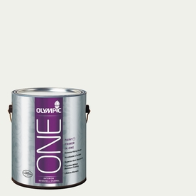 Olympic ONE Delicate White Eggshell Latex Interior Paint and Primer In One (Actual Net Contents: 124-fl oz)