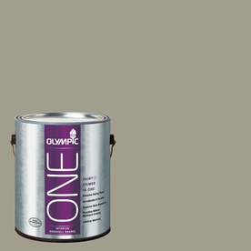 Olympic ONE Smoky Slate Satin Latex Interior Paint and Primer In One (Actual Net Contents: 116-fl oz)