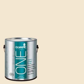 Olympic ONE Vanilla Wafer Satin Latex Interior Paint and Primer In One (Actual Net Contents: 124-fl oz)