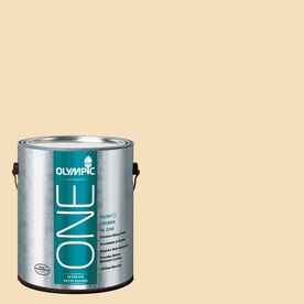 Olympic ONE Winter Wheat Satin Latex Interior Paint and Primer In One (Actual Net Contents: 124-fl oz)