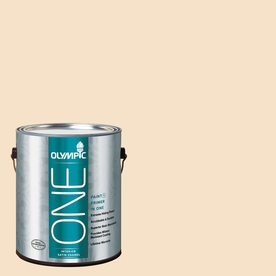 Olympic ONE Magnolia Spray Satin Latex Interior Paint and Primer In One (Actual Net Contents: 124-fl oz)