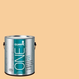 Olympic ONE HONEy Butter Satin Latex Interior Paint and Primer In One (Actual Net Contents: 124-fl oz)