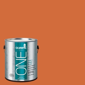 Olympic ONE Field Poppy Satin Latex Interior Paint and Primer In One (Actual Net Contents: 114-fl oz)