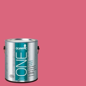 Olympic ONE Raspberry Rush Satin Latex Interior Paint and Primer In One (Actual Net Contents: 114-fl oz)