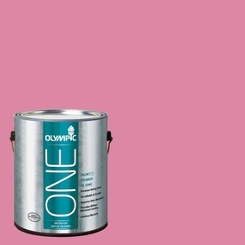 Olympic ONE Rose Glory Satin Latex Interior Paint and Primer In One (Actual Net Contents: 116-fl oz)