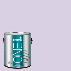 Olympic ONE Lightly Lilac Satin Latex Interior Paint and Primer In One (Actual Net Contents: 124-fl oz)
