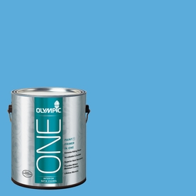Olympic ONE Windjammer Satin Latex Interior Paint and Primer In One (Actual Net Contents: 116-fl oz)