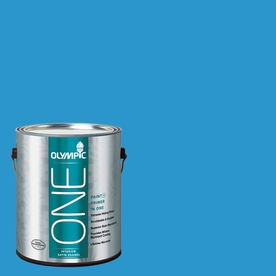 Olympic ONE Magical Merlin Satin Latex Interior Paint and Primer In One (Actual Net Contents: 114-fl oz)
