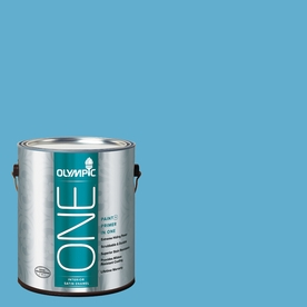 Olympic ONE Salem Blue Satin Latex Interior Paint and Primer In One (Actual Net Contents: 116-fl oz)