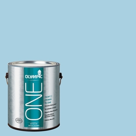 Olympic ONE Spring Water-Basedfall Satin Latex Interior Paint and Primer In One (Actual Net Contents: 124-fl oz)
