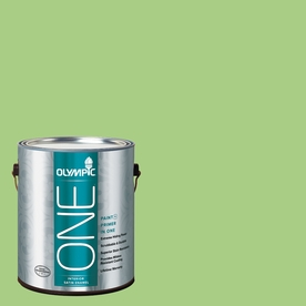 Olympic ONE Celery Sprig Satin Latex Interior Paint and Primer In One (Actual Net Contents: 116-fl oz)