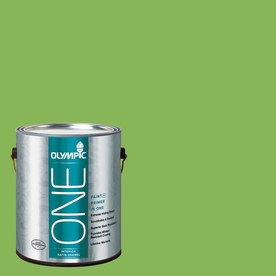 Olympic ONE Green Pear Satin Latex Interior Paint and Primer In One (Actual Net Contents: 114-fl oz)