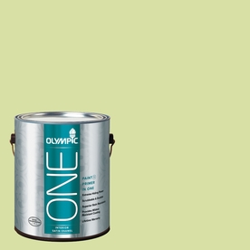 Olympic ONE Green Grapes Satin Latex Interior Paint and Primer In One (Actual Net Contents: 124-fl oz)