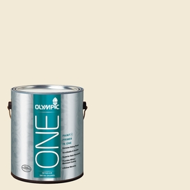 Olympic ONE Satin Weave Satin Latex Interior Paint and Primer In One (Actual Net Contents: 124-fl oz)