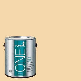 Olympic ONE Dusty Yellow Satin Latex Interior Paint and Primer In One (Actual Net Contents: 124-fl oz)