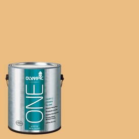 Olympic ONE 116 Fluid Ounce(S) Interior Satin Gold Ruff Paint and Primer In One