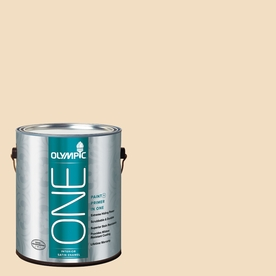 Olympic ONE HONEy Beige Satin Latex Interior Paint and Primer In One (Actual Net Contents: 124-fl oz)
