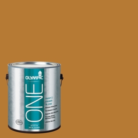 Olympic ONE Cider Toddy Satin Latex Interior Paint and Primer In One (Actual Net Contents: 114-fl oz)