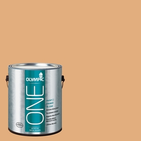Olympic ONE Chocolate Turtle Satin Latex Interior Paint and Primer In One (Actual Net Contents: 116-fl oz)