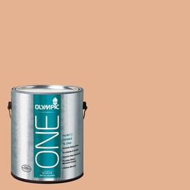 Olympic ONE Gentle Doe Satin Latex Interior Paint and Primer In One (Actual Net Contents: 124-fl oz)