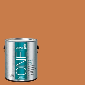 Olympic ONE 114 Fluid Ounce(S) Interior Satin Gingerbread Paint and Primer In One