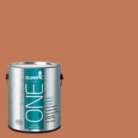 Olympic ONE Brown Clay Satin Latex Interior Paint and Primer In One (Actual Net Contents: 114-fl oz)
