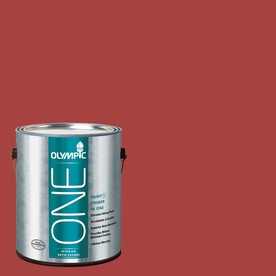 Olympic ONE 114 Fluid Ounce(S) Interior Satin Rum Runner Paint and Primer In One