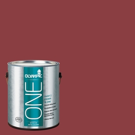 Olympic ONE 114 Fluid Ounce(S) Interior Satin Apple-A-Day Paint and Primer In One
