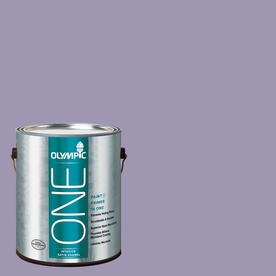 Olympic ONE Mystic Purple Satin Latex Interior Paint and Primer In One (Actual Net Contents: 116-fl oz)