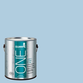 Olympic ONE 124 Fluid Ounce(S) Interior Satin Serenity Paint and Primer In One