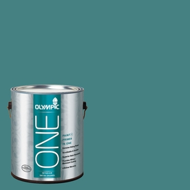 Olympic ONE Teal Zeal Satin Latex Interior Paint and Primer In One (Actual Net Contents: 114-fl oz)