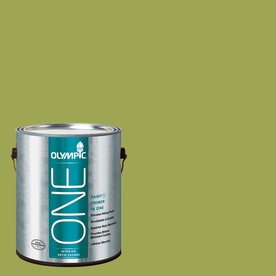 Olympic ONE Asparagus Satin Latex Interior Paint and Primer In One (Actual Net Contents: 114-fl oz)