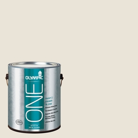 Olympic ONE Colonial White Satin Latex Interior Paint and Primer In One (Actual Net Contents: 124-fl oz)