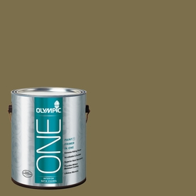 Olympic ONE 114 Fluid Ounce(S) Interior Satin Green Briar Paint and Primer In One