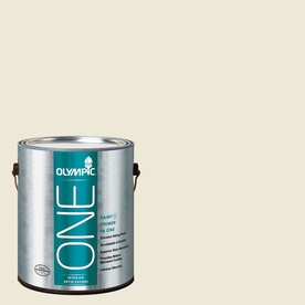 Olympic ONE Ivory Tower Satin Latex Interior Paint and Primer In One (Actual Net Contents: 124-fl oz)