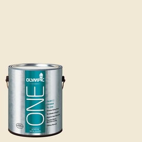 Olympic ONE Adobe White Satin Latex Interior Paint and Primer In One (Actual Net Contents: 124-fl oz)