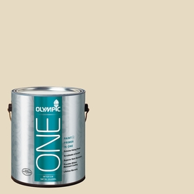 Olympic ONE Heavy Cream Satin Latex Interior Paint and Primer In One (Actual Net Contents: 124-fl oz)