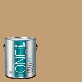 Olympic ONE Applesauce Cake Satin Latex Interior Paint and Primer In One (Actual Net Contents: 116-fl oz)