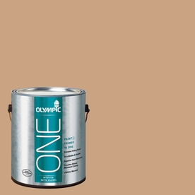 Olympic ONE Covered Wagon Satin Latex Interior Paint and Primer In One (Actual Net Contents: 116-fl oz)