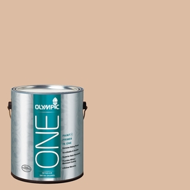 Olympic ONE Weathered SandstONE Satin Latex Interior Paint and Primer In One (Actual Net Contents: 124-fl oz)