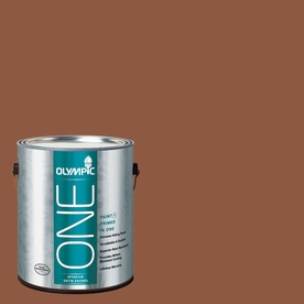 Olympic ONE Spiced Cider Satin Latex Interior Paint and Primer In One (Actual Net Contents: 114-fl oz)